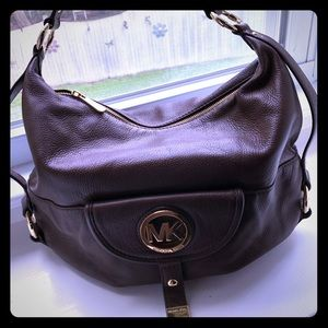 Michael Kors Soft Brown Shoulder Bag.